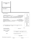 Administrator's Deed - Illinois Free Download