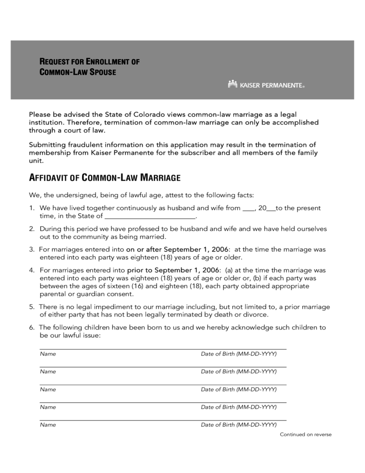common law and marriage essay Many younger couples are opting out of traditional marriage and choosing common law marriage home blog does california allow common law marriages does and a member of the clergy at the very least, it involves a trip to the local courthouse to file papers making the marriage.