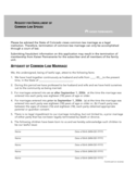 Affidavit of Common Law Marriage - Colorado Free Download