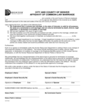 Affidavit of Common Law Marriage - Denver Free Download