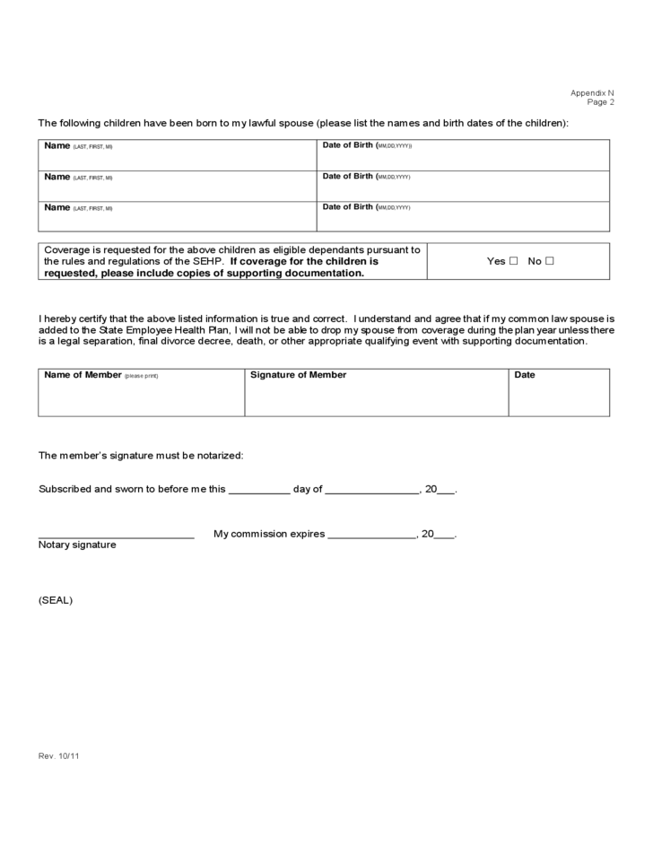 Affidavit Of Common Law Marriage Form Kansas Free Download