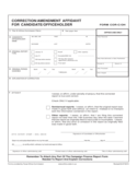 Correction Affidavit for Candidate Free Download