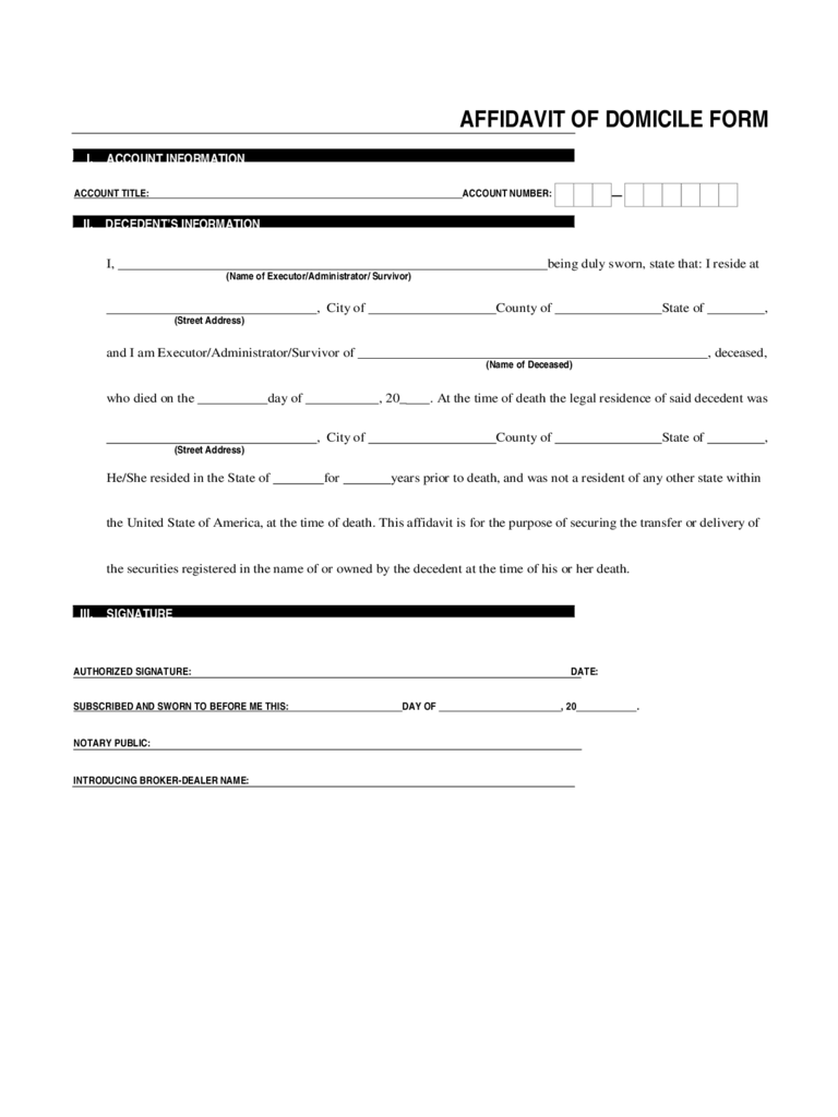 Affidavit of domicile 16 free templates in pdf word excel download affidavit of domicile form sample thecheapjerseys Gallery
