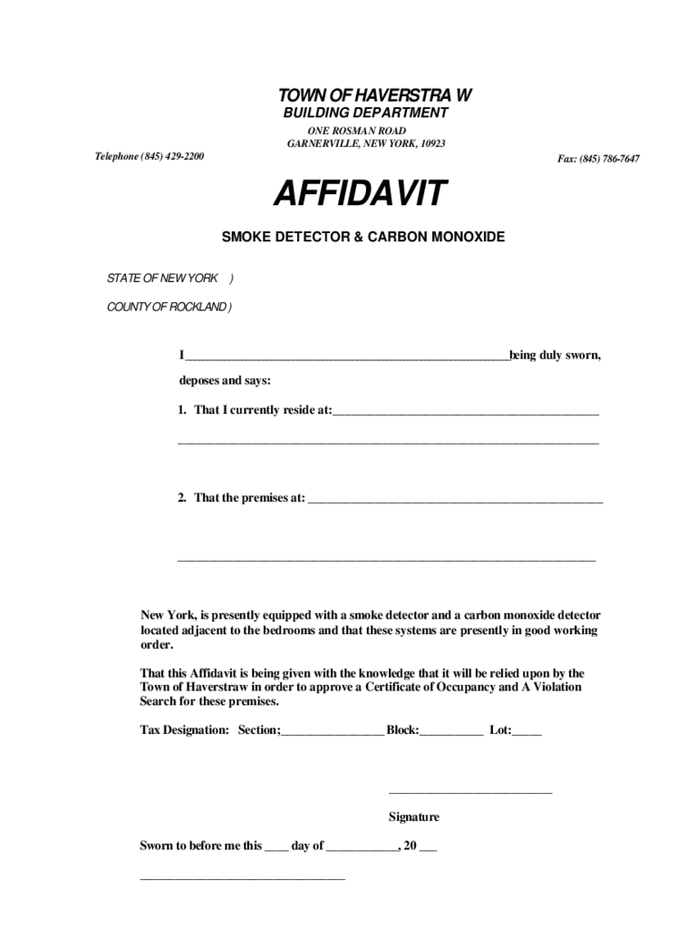 High Quality Affidavit Of Equipment Of Detectors And Affidavit Of Fact Template