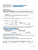 Affidavit of Financial Support Form - New Jersey