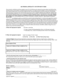 McNeese Affidavit of Support Form - Louisiana