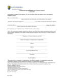 Affidavit of Support - North Carolina