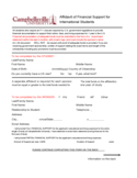 Affidavit of Financial Support for International Students - Campbellsville University Free Download