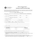 Affidavit of Financial Support - Calhoun Community College Free Download