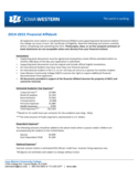 2014-2015 Financial Affidavit - Iowa Western Community College