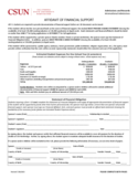 Affidavit of Financial Support Form - California State University, Northridge
