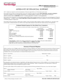 Affidavit of Financial Support Form - California