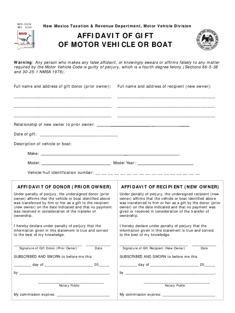 Affidavit of gift form 7 free templates in pdf word for Affidavit of motor vehicle gift transfer texas