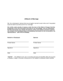 Affidavit of Marriage - Western Oregon University