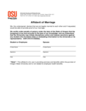 affidavit of marriage - Oregon State University