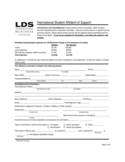 International Student Affidavit of Support - LDS Business College