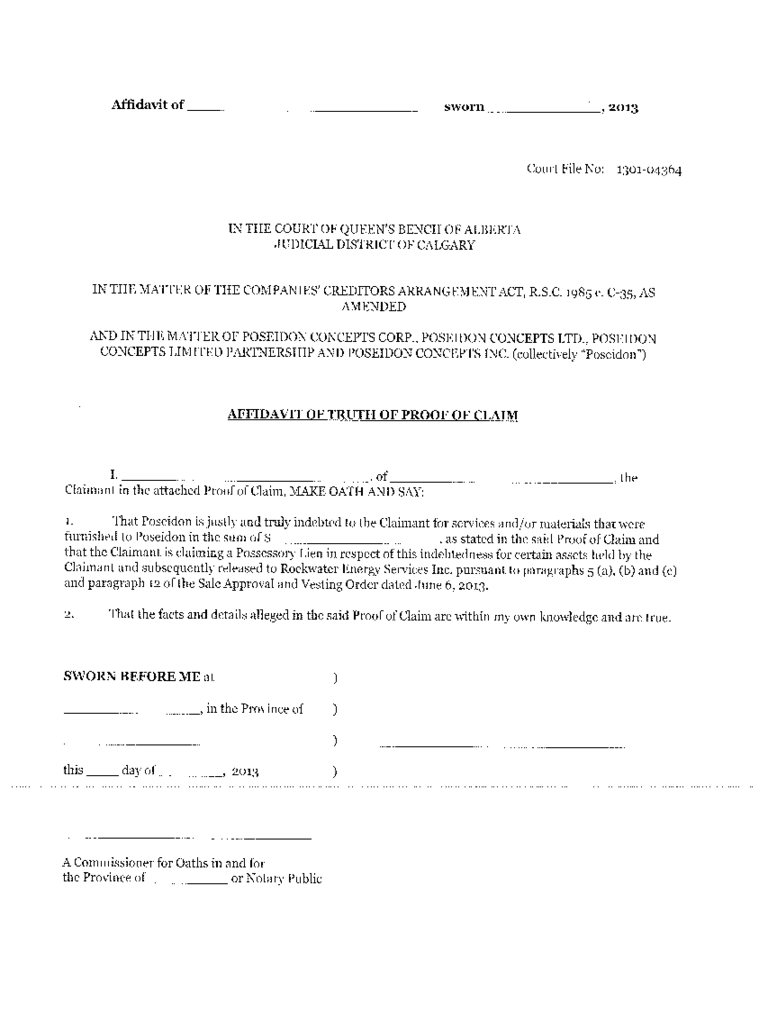 Affidavit of Truth  7 Free Templates in PDF Word Excel