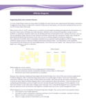 Affinity Diagram Template - University of Washington Free Download
