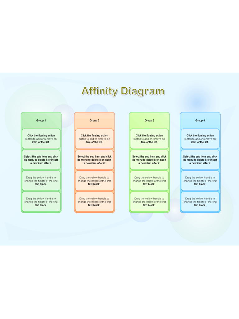 affinity diagram template    free templates in pdf  word  excel    affinity diagram template form