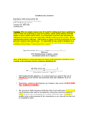 Agency Contract Template for Toronto Free Download