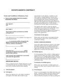 Agent Contract Template Format Free Download
