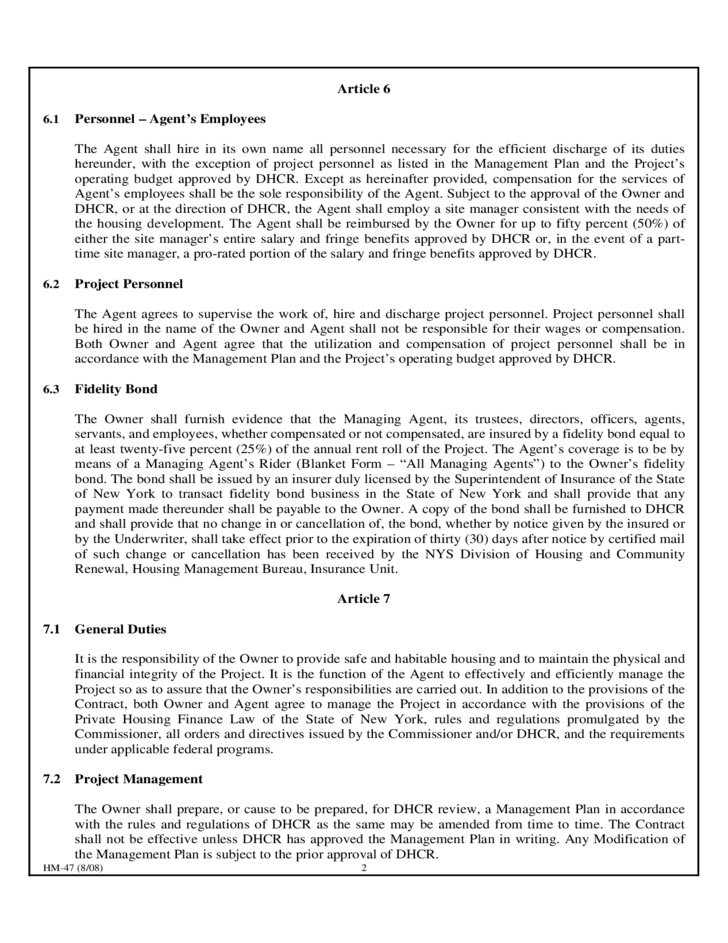 Agent Contract Template New York Free Download – Agent Agreement Template Free