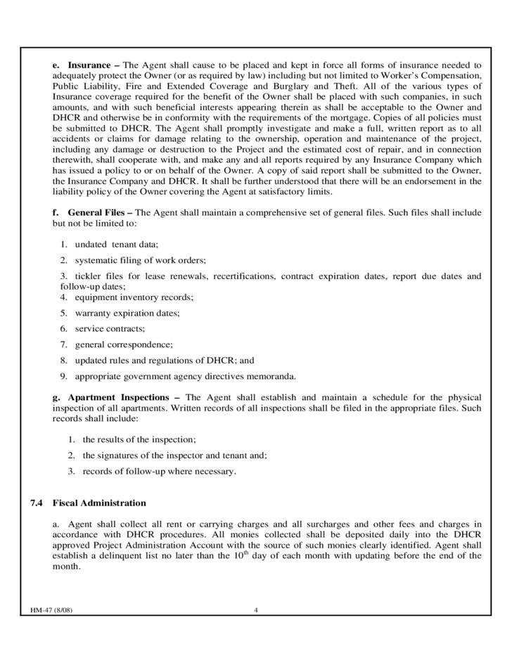 Agent Contract Template New York Free Download