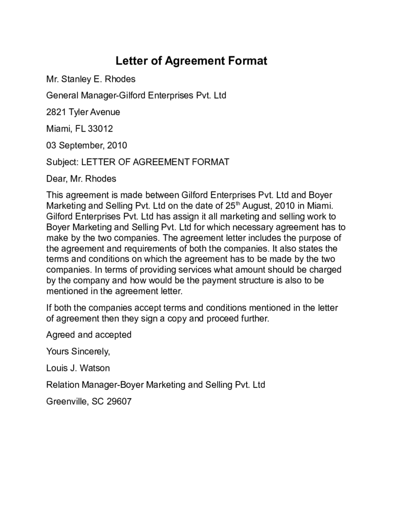 agreement letter templates templates in pdf word excel agreement letter templates 10 templates in pdf word excel