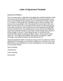 Letter of Agreement Sample Free Download
