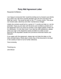Party Wall Agreement Letter Sample Free Download