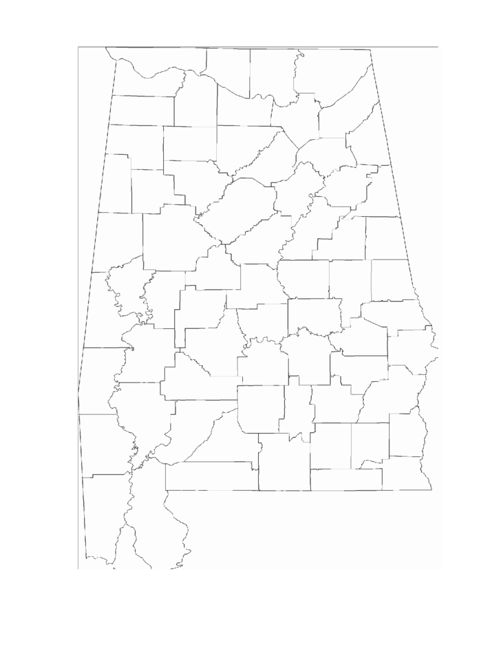 A Blank Map Of Alabama Blank Map Kentucky Printed Map Of Alabama - County map of alabama