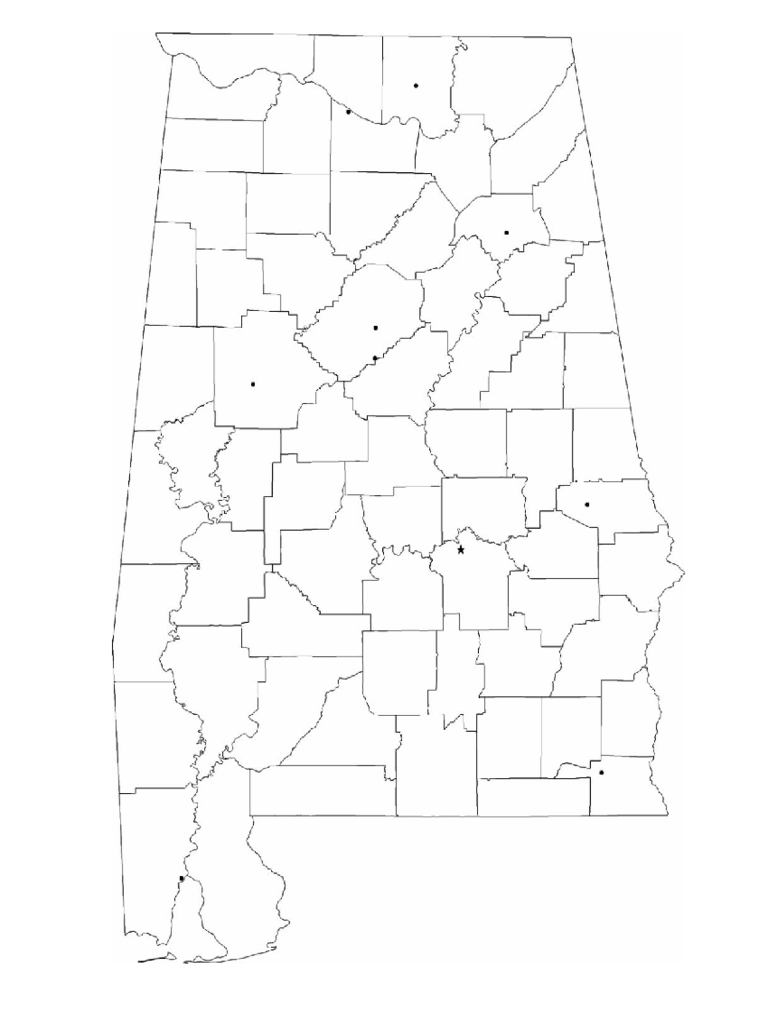Blank Alabama City Map