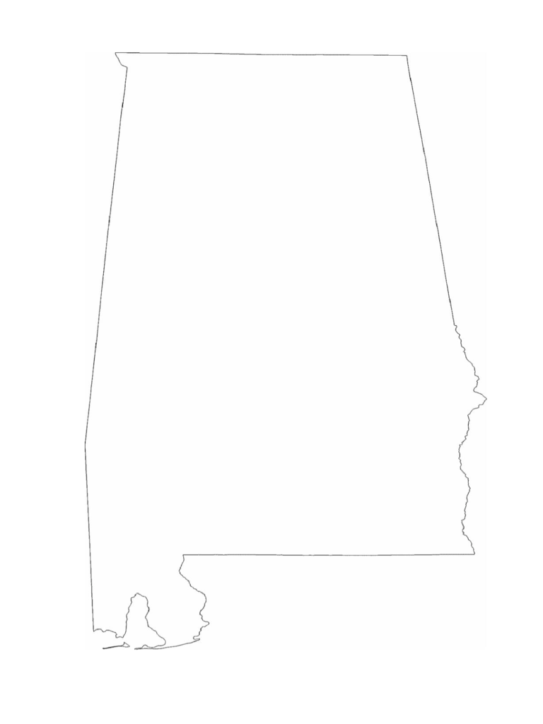 Alabama State Outline Map