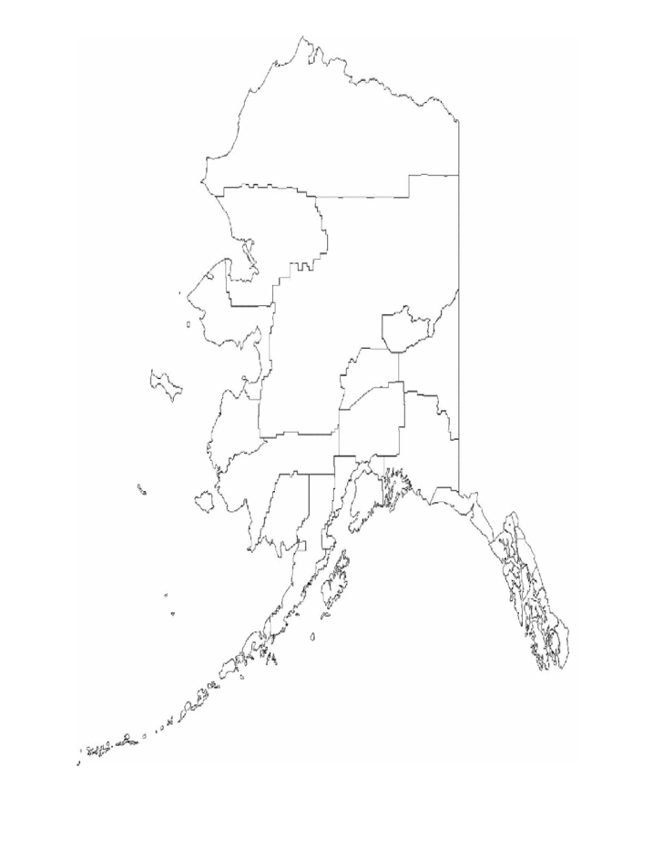 Blank Alaska Borough Map Free Download