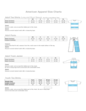 American Apparel Size Charts Free Download