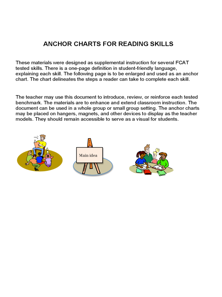 Anchor Charts for Reading Skills
