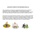 Anchor Charts for Reading Skills Free Download