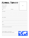 Blank Animal Report Form Free Download