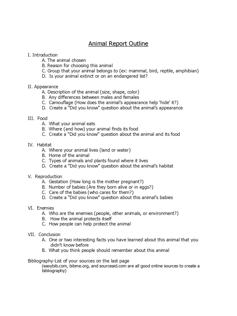 Animal Report Template 5 Free Templates in PDF Word Excel Download – Animal Report Template Example