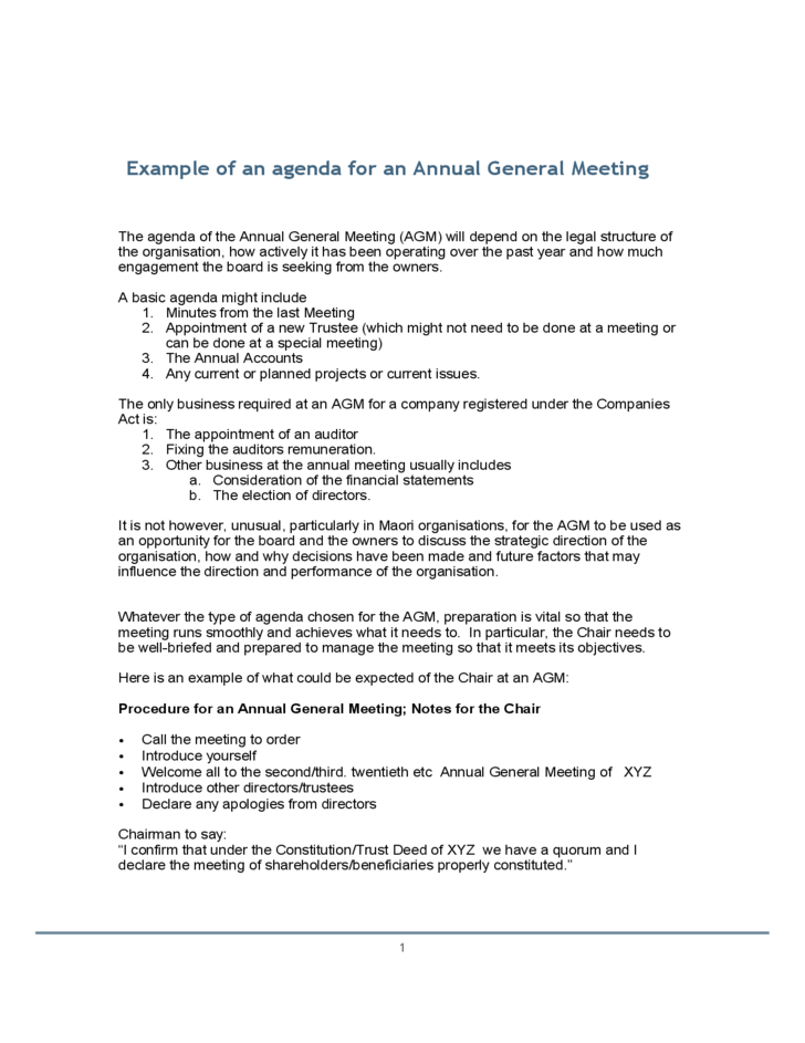 Example of an agenda for an annual general meeting free download thecheapjerseys Gallery