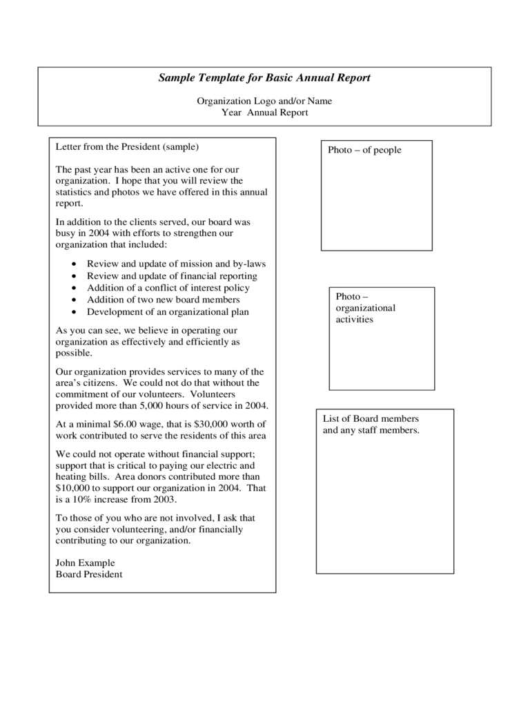 annual report template templates in pdf word excel annual report template