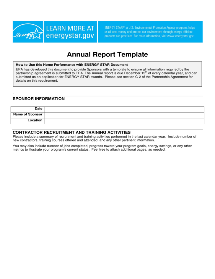 report template standard annual report template free 24274 | standard annual report template l1