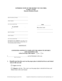 Contested Answer and Counterclaim - District of Columbia Free Download