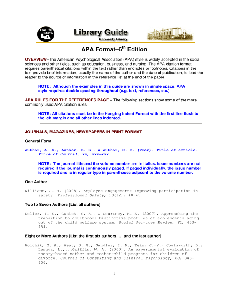 Apa Format Template 3 Free Templates In Pdf Word Excel