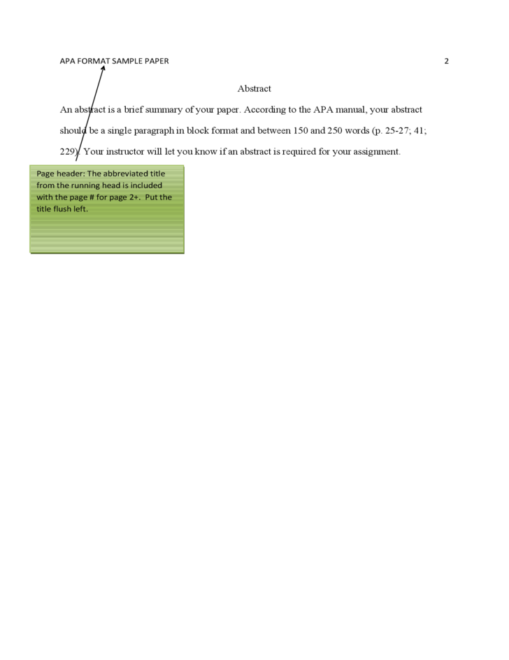 apa format sample paper free download