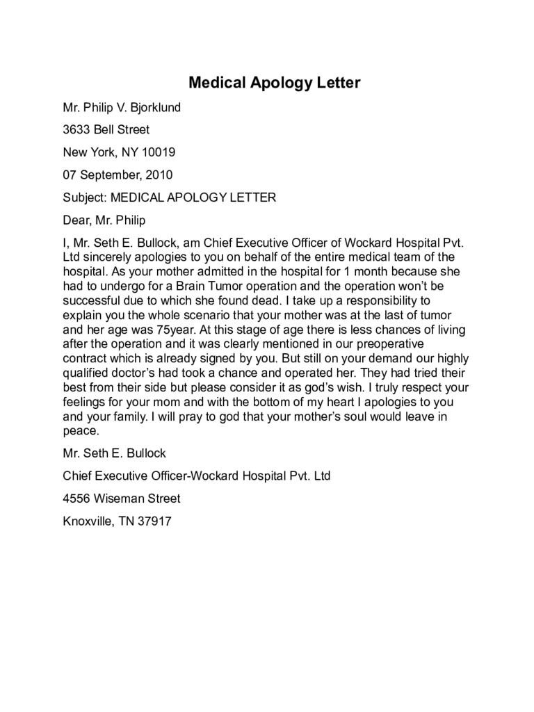 how to write a business apology letter sample