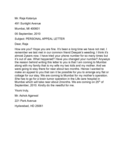 Personal Appeal Letter Sample Free Download