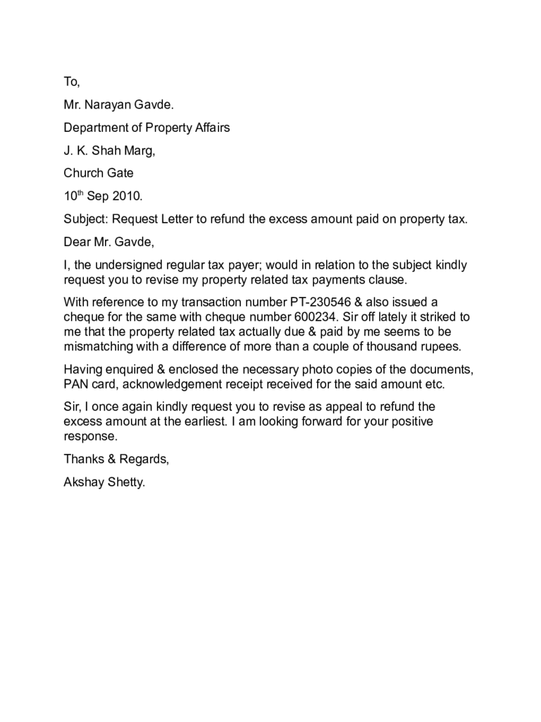 sample of an appeal letter
