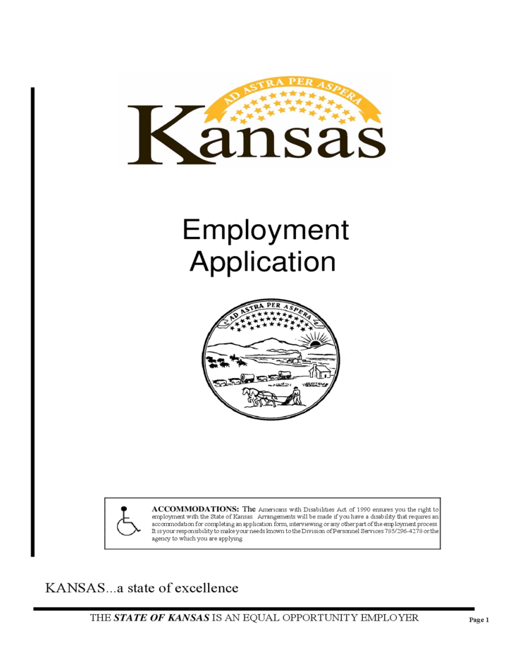 Kansas Employment Application