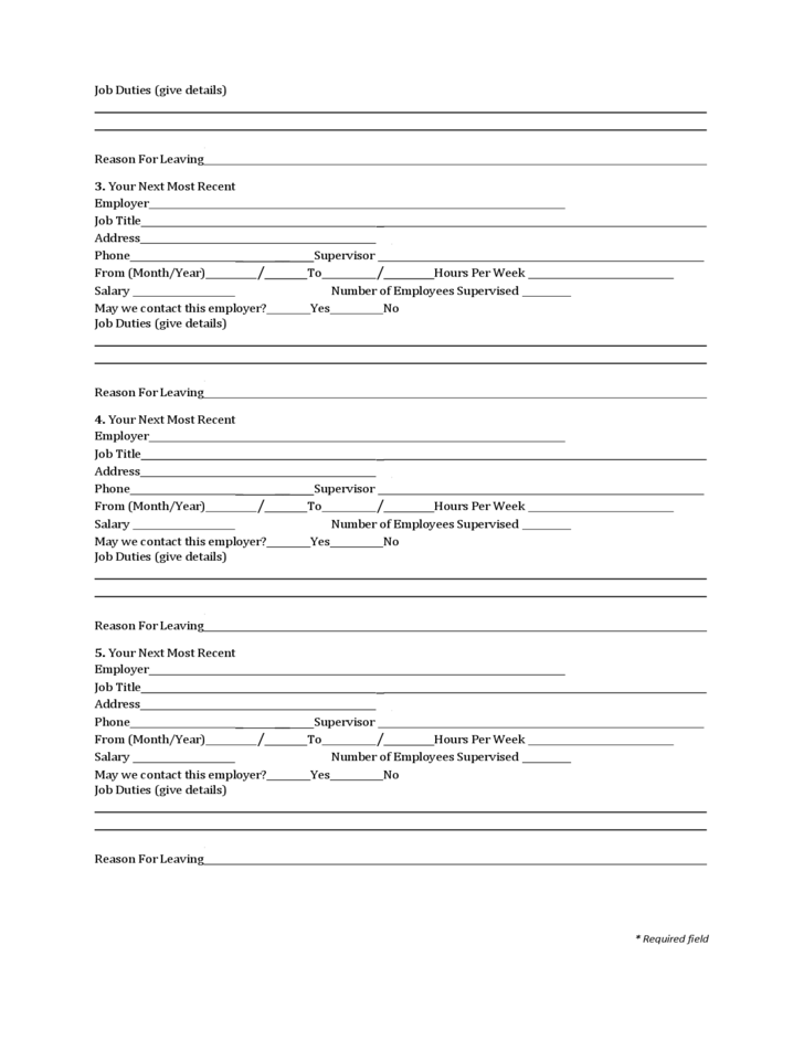State of Louisiana Employment Application